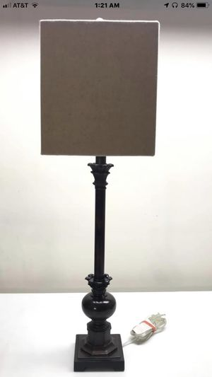 Nightstand Lamp, Tall Elegant lamp, Fabric Shade Bedside Desk Lamp for Sale in Annandale, VA