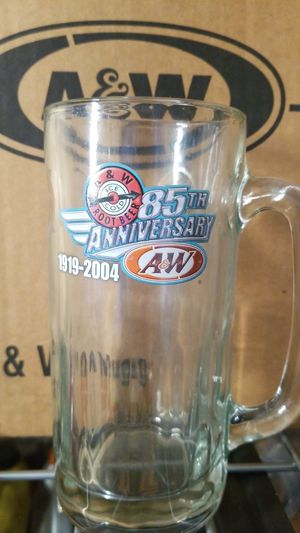 85th anniversary A&W Glass Mugs!! Collectable for Sale in Fircrest, WA