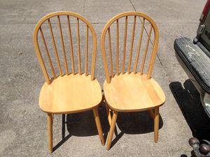 2 wooden chairs for Sale in McKinney, TX