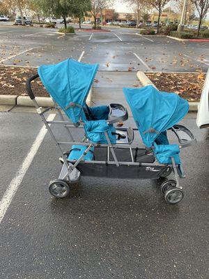 Blue double stroller for Sale in San Jose, CA