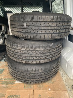 I'm selling my excellent condition 4 tires and rims Price 200$...... and I have new parts for hyundai 2006g for Sale in Dearborn, MI