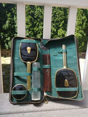 Vintage Vanity Set mirror-brush-canister for Sale in Columbia, SC