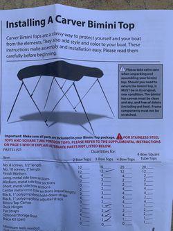 Carver boat Bimini top for Sale in PERKIOMENVLLE,  PA