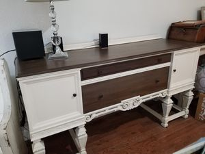 Antique sideboard table 72 x 23 x 38 in h for Sale in Dallas, TX