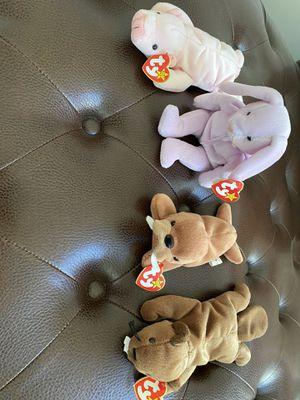 Set of 4 Vintage Beanie Babies for Sale in Ashburn, VA