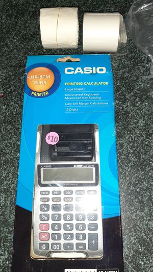 Casio printing Calculator HR-8 TM plus PRINTER large display for Sale in Wylie, TX