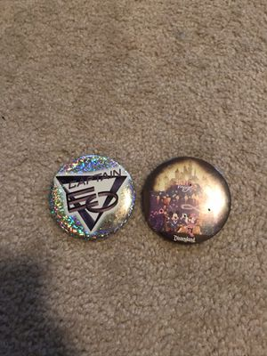 Disneyland buttons Captain EO and light magic 2010 and 1997 for Sale in Sacramento, CA