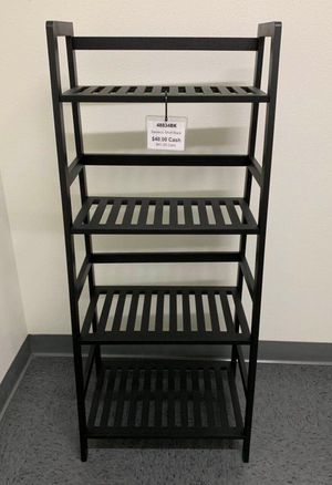 New in box $30 each 19x12x45 inches tall bamboo bookshelf shelf 4 tiers natural or black color for Sale in Covina, CA