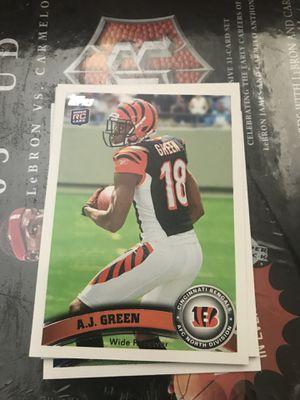 Cincinnati Bengals green rookie football card for Sale in Colorado Springs, CO