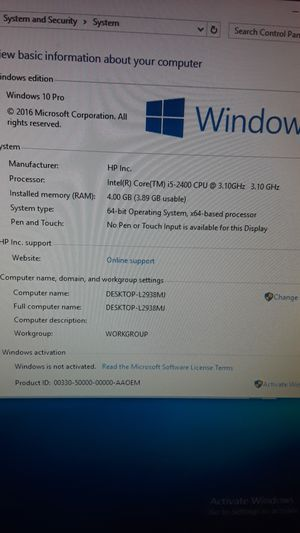 I5 computer with monitor for Sale in Tampa, FL
