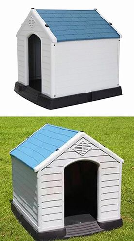 """Brand New $75 Plastic Dog House Medium/Large Pet Indoor Outdoor All Weather Shelter Cage Kennel 35x31x32"""" for Sale in Downey, CA"""