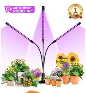 Grow Light, Ankace 2019 Upgraded Version 60W Tri Head Timing 60 LED 5 Dimmable Levels Plant Grow Lights for Indoor Plants with Red Blue Spectrum, Adj for Sale in Montebello, CA