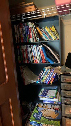 Sturdy ikea tall black 5 level bookcases for Sale in Issaquah, WA