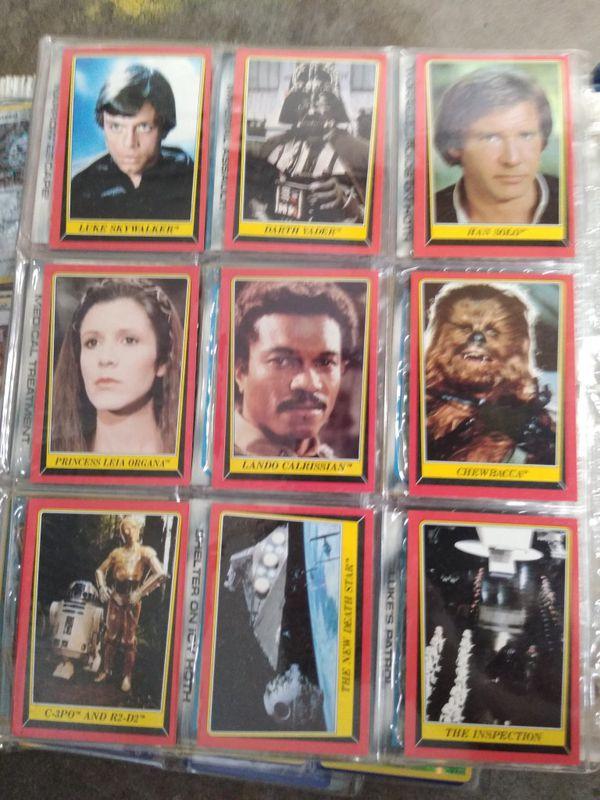 Original Topps Starwars Cards