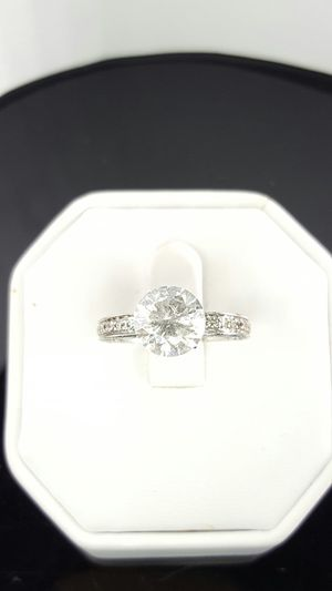 3 carat certified solitaire cathedral style ring for Sale in Nashville, TN