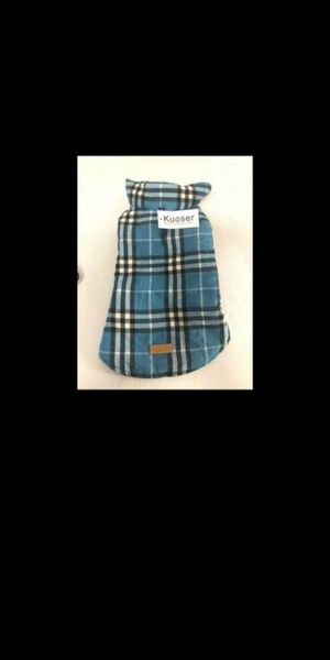 New. Kuoser Cozy Waterproof Reversible Plaid Dog Vest, Blue for Sale in Corona, CA