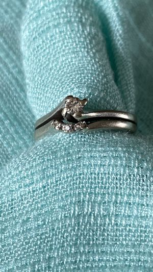 14 karat white gold With small diamond engagement ring size 5 1/2 or six for Sale in Mukilteo, WA
