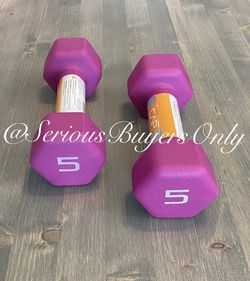 Pair Of 5 Lb Dumbbell Weights (gym and exercise Equipment Fitness ) for Sale in Fontana,  CA