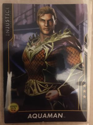 Injustice Gods Among Us Justice League Arcade Game Trading Card Aquaman50/100 for Sale in Levittown, NY