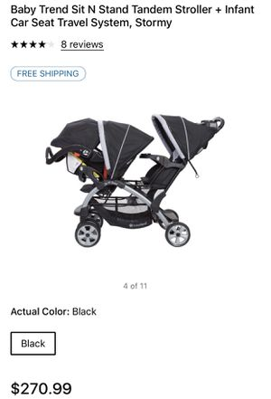 Baby Trend Sit N Stand Stroller + Infant Car Seat Travel System for Sale in Landover, MD