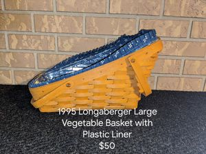 1995 Longaberger Large Vegetable Basket for Sale in Orange City, FL