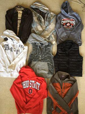 Men's medium large jackets vests hoodies Hurley Hollister Aeropostale for Sale in Dublin, OH