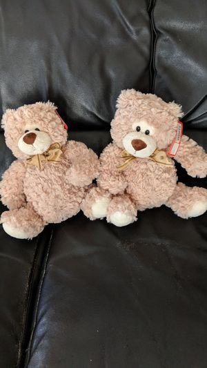 Twin linzy stuffed teddy bears, $5 for both for Sale in Los Angeles, CA
