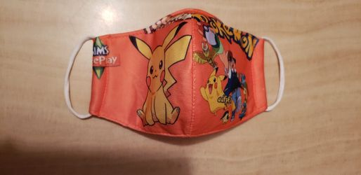 Pokemon Kids Face Mask Orange Double Layer for Sale in Los Angeles,  CA