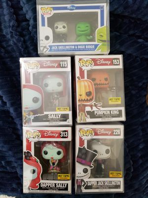Funko PoP! Nightmare Before Christmas Dapper Jack / Sally, Jack Oogie 2 pack, plus more for Sale in Perry Hall, MD