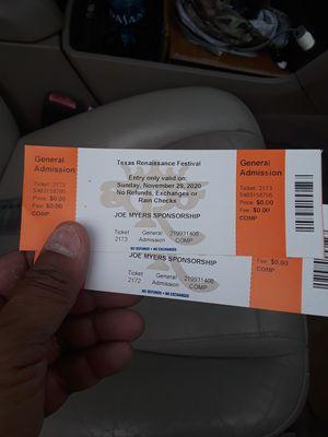 Renaissance Festival tickets for Sale in Houston, TX