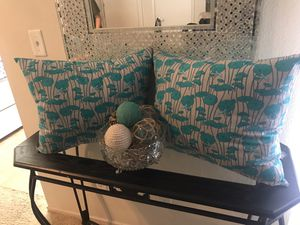 Turquoise & Grey Decorative Pillows Set for Sale in Ontario, CA