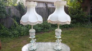 Waterfall Crystal Cherub Lamps for Sale in Everett, MA