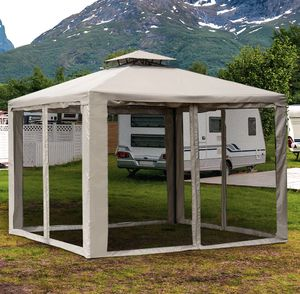 SHIPPING ONLY 10' x 10' Gazebo Canopy Tent 2 Tier Vented with Mesh Panels for Sale in Las Vegas, NV
