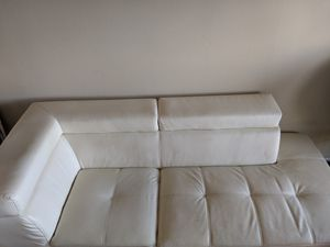 Comfy white faux leather couch, $30 for Sale in Foster City, CA