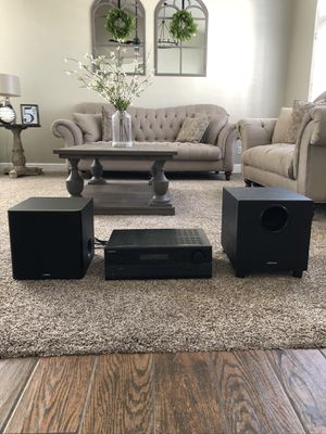 Onkyo sound system with yamaha subwoofer for Sale in Gilbert, AZ