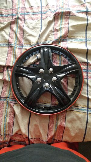 """Autosmart KT919-14IB+R 14"""" Sporty 2 Tone Glossy Black Wheel Cover With Red Trim for Sale in Gilroy, CA"""