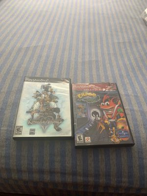 Kingdom hearts ps2 and crash bandicoot ps2 for Sale in The Bronx, NY