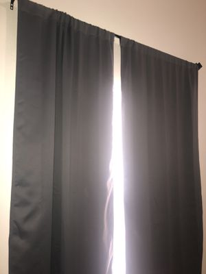 Grey long curtains (set of 2) for Sale in Orlando, FL
