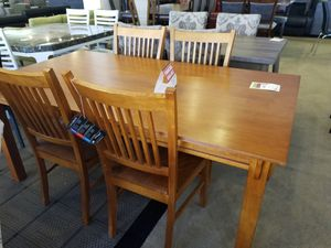 Wood Dining Table with four chairs for Sale in Phoenix, AZ