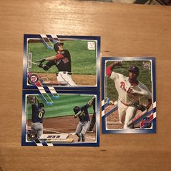 2021 TOPPS 3 BLUE CARDS for Sale in St. Louis,  MO
