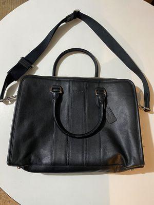 Men's black leather Coach messenger bag for Sale in Boston, MA