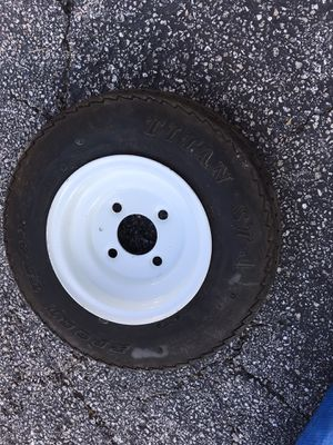Trailer /boat load B / Tire 4.8-8 with rim GoodYear for Sale in Austin, TX