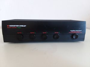 Monster Cable 4-Way Speaker Selector with Amplifier for Sale in Adelphi, MD