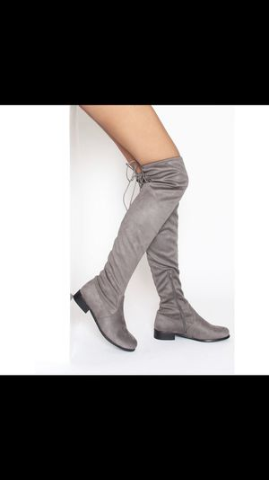thigh high grey boots for Sale in Syracuse, UT