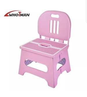 Pink Braided Kids Step Stool w/Backrest for Sale in Sacramento, CA
