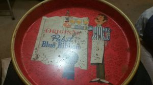Pabst Blue Ribbon vintage serving tray for sale  fair condition for Sale