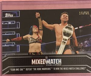 2018 Topps WWE Women's Division Wrestling Mixed Match Challenge #MM-24 SP #/50 for Sale in Edwardsville,  IL