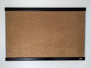 Cork Bulletin Board w/Mahogany Finish and Aluminum Frame for Sale in Fullerton, CA