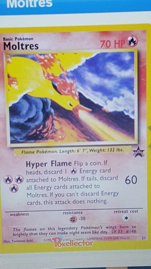 👣 Pokemon cards 💥SEALED💥 WotC Black Star Promo💥MOLTRES #21💥 👣 for Sale in Arlington, VA