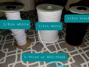 White and black elastic for Sale in Abilene, TX